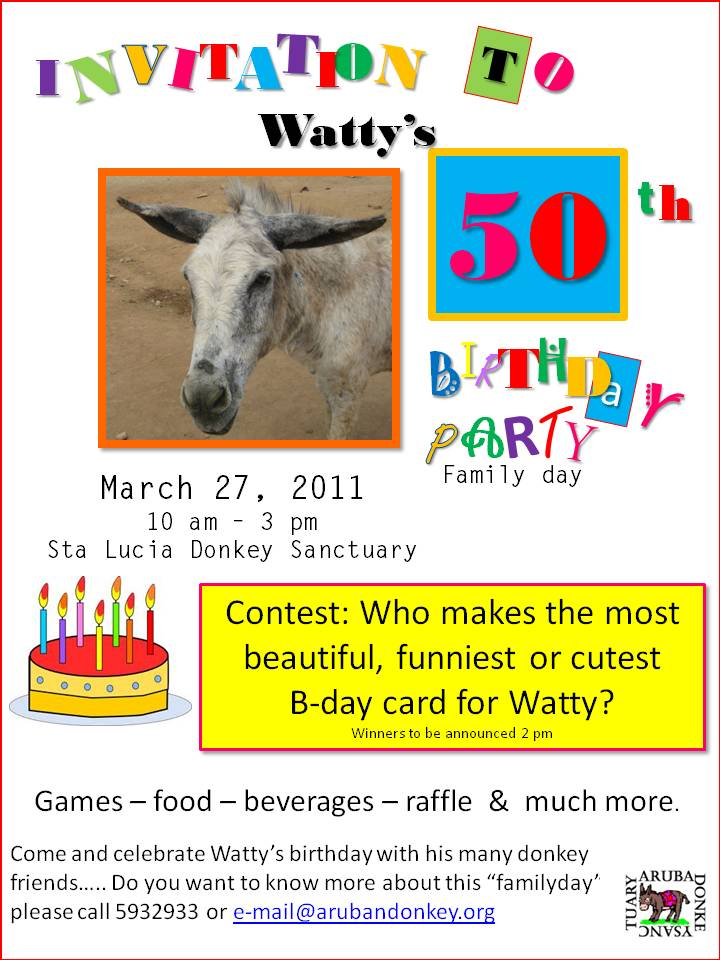 Watty's bday party